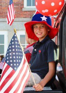 Kid as Uncle Sam